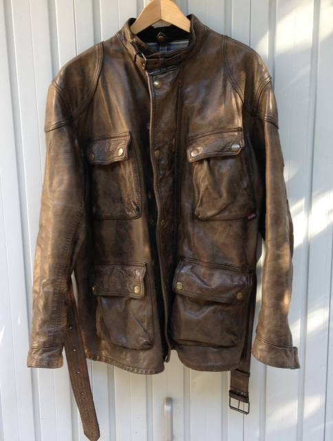 Giacca In Pelle Belstaff Modello Panther